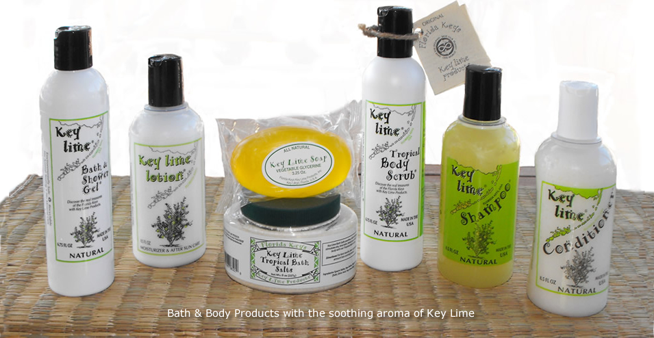 Bath Products : Natural Key Lime Bath and Body Products from Key Lime Products